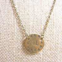 Scorpio Necklace Zodiac Necklace Astrological Necklace Zodiac Jewelry Scorpio Jewelry