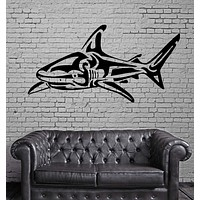 SHARK HUNT OCEAN SEA MARINE DECOR Wall MURAL Vinyl Art Sticker Unique Gift M201