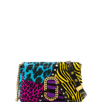 Marc Jacobs St. Marc Punk Calf Hair Clutch Bag, Black/Multi
