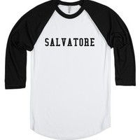 Salvatore-Unisex White/Black T-Shirt