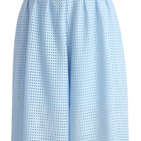 Baby Blue Culotte with Cutout Detail Blue S/M