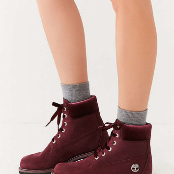 Timberland Velvet-Accent Premium Waterproof Lace-Up Boot | Urban Outfitters