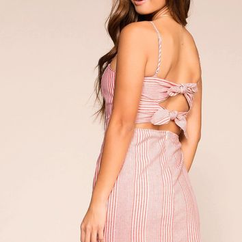 Lou Red and White Striped Sun Dress