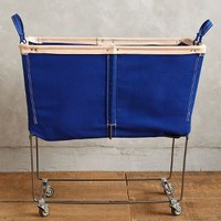 Steele Canvas Basket Corp. Large Mobile Canvas Bin