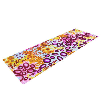 "Ebi Emporium ""Circular Persuasion Purple"" Yellow Pink Yoga Mat"