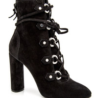 Black Lace Up Bootie