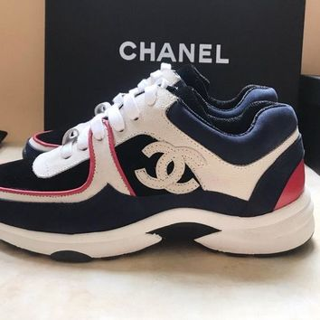 Chanel official website cover classic casual shoes pink blue