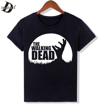 Dingtoll The Walking Dead Fashion T Shirts Women New Funny O Neck Top Letters Tees Hipster Tumblr   WMT293