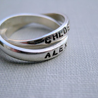 Interlocking Personalized Rings  Connection by boutonrougedesigns
