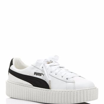 New FENTY Puma x Rihanna Women's Creeper Platform Sneakers White Leather Sz 7.5