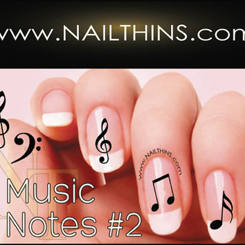 No 2 Music Note Nail Decal Musical Notes Nail Design NAILTHINS