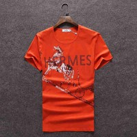 One-nice™ Hermes Women Man Fashion Print Sport Shirt Top Tee