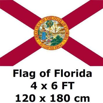 Florida Flag 4X6FT 100D Polyester State of US USA American United States Flags and Banners For Home Decoration