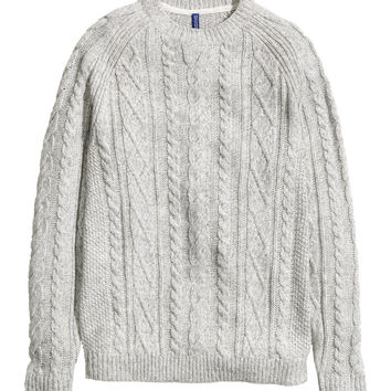 H&M - Cable-knit Sweater - Gray - Men