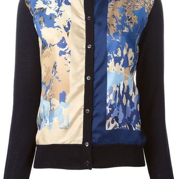 DCCKIN3 Salvatore Ferragamo abstract panel cardigan