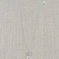 Sterling & Quartz Drop Necklace