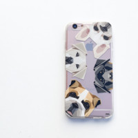 Dogs With Attitudes - Clear TPU Case Cover