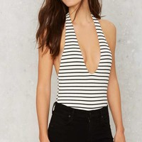Striped From the Headlines Tank Bodysuit