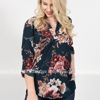Blooming Magnolia Floral Top