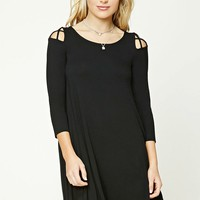 Contemporary Caged Swing Dress
