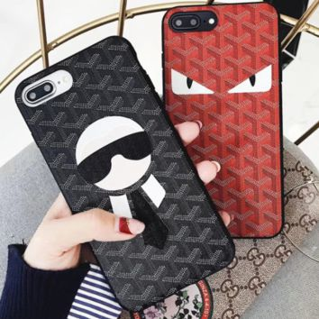 Fendi iphone 7plus iphone 7plus iphone7 8 couple soft cover 8plus candy mesh point New York popular logo 8