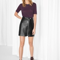 & Other Stories | Leather Skirt | Black