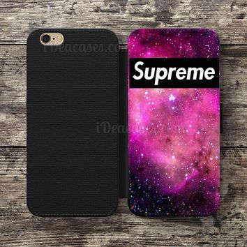 supreme galaxy nebula Wallet Case For iPhone 6S Plus 5S SE 5C 4S case, Samsung Galaxy
