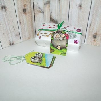 Butterflies In The Attic: Set of 5 Handmade Gift Tags - Serendipity Kartusch - Gift Wrap REFNO.11.13.2