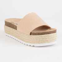 DIRTY LAUNDRY Pippa Espadrille Black Womens Platform Sandals
