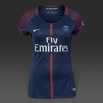 KUYOU PSG 2017/18 Home Women Soccer Jersey Personalized name and number