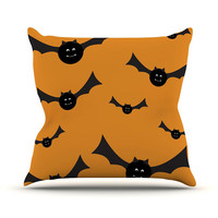 "Kess Original ""Going Batty"" Throw Pillow - Great Gift - Matches Blankets"