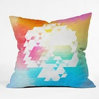 Deniz Ercelebi Skull BW Colors Throw Pillow