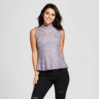 Women's Lace Illusion High Neck Top - 3Hearts (Juniors')