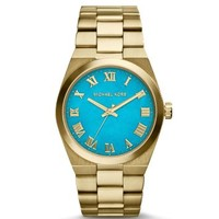 Channing Turquoise and Gold-Tone Watch | Michael Kors