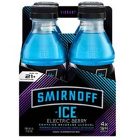 Smirnoff Ice Electric Berry Cocktail, 16 fl oz, 4 pack - Walmart.com
