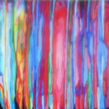 Abstract Beast Color 2  one of a kind acrylic by PreciousBeast