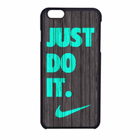 Nike Just Do It Wood Colored Darkwood Wooden Fdl iPhone 6 Case