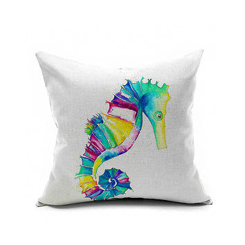 Cotton Flax Pillow Cushion Cover Animal   DW086