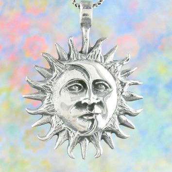 Radiant Half Sun & Half Moon Necklace