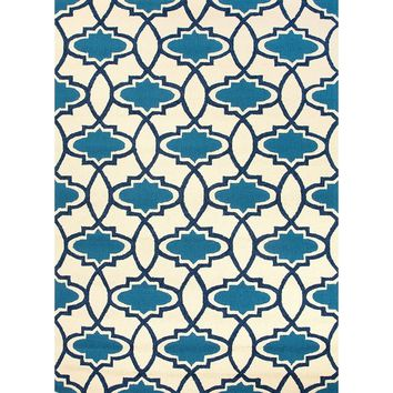 Turkish Tiles Blue Outdoor Rug