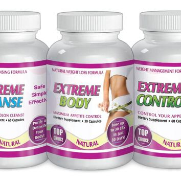 Extreme Maximum Diet Formula Weight loss System Slim Cleanse Control Kit