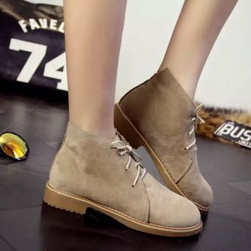 Korean Ladies Casual Shoes Boots [9432939786]