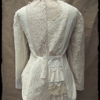 Antique lace tailcoat