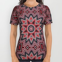 Geometric Star All Over Print Shirt by Webgrrl