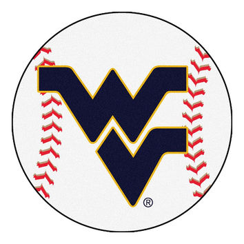 West Virginia Mountaineers NCAA Baseball Round Floor Mat (29)