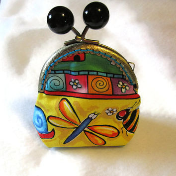 Teachers Gift Coin Purse with Kisslock Clasp