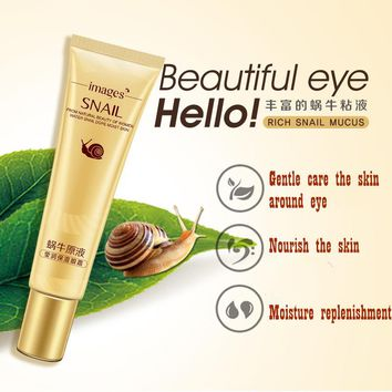 BIOAQUA Snail Eye Cream Whitening Moisturizing Anti-aging Wrinkle Remove Dark Circles Snail Cream Eye Care 20g