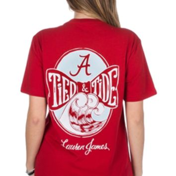 Alabama Tied and Tide Tee | Alabama Crimson Tide Girl's Tee | BAMA Girl's Tee