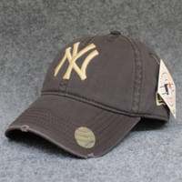 Coffee Color NY Cotton Baseball Cap