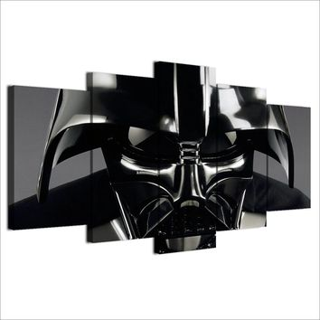 Fast US Ship - Star Wars Darth Vader Helmet Wall Art Canvas  Print